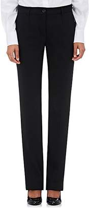 Dolce & Gabbana Women's Wool-Blend Straight-Leg Pants - Black