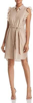 T Tahari Abby Metallic Striped Shirt Dress - 100% Exclusive