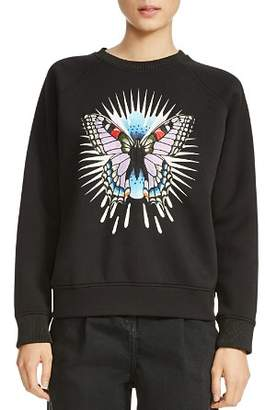 Maje Tory Butterfly Embroidered Sweatshirt