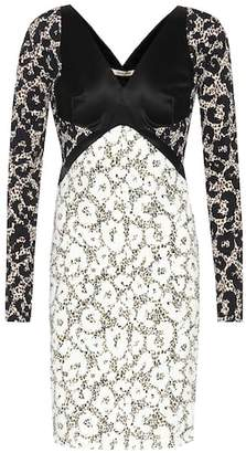 Roberto Cavalli Printed long-sleeved dress