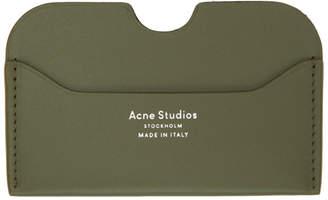Acne Studios Green Elmas Card Holder
