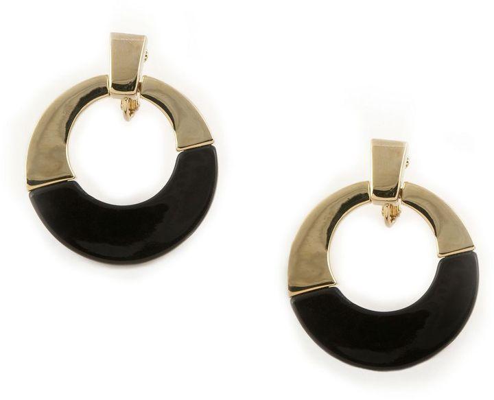 Ak anne klein doorknocker clip-on earrings
