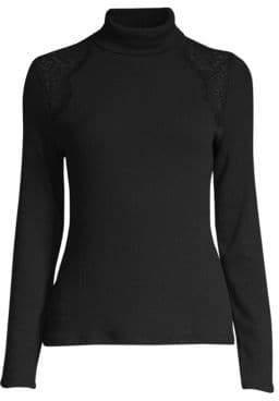 Generation Love Carmine Lace Turtleneck Sweater
