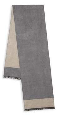 Saks Fifth Avenue Colorblock Silk Scarf