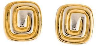 Givenchy Vintage Two-Tone Clip-On Earrings