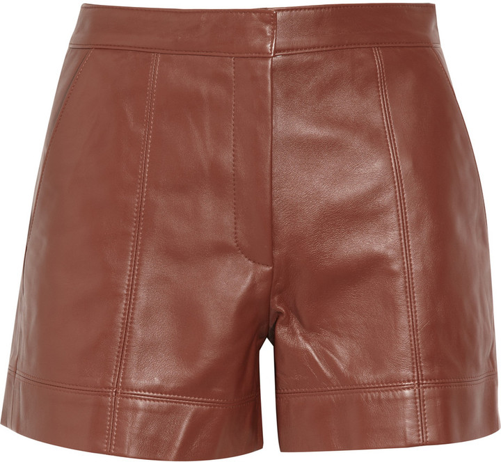 Tibi Leather shorts