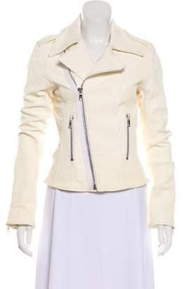 RtA Denim Embossed Leather Jacket