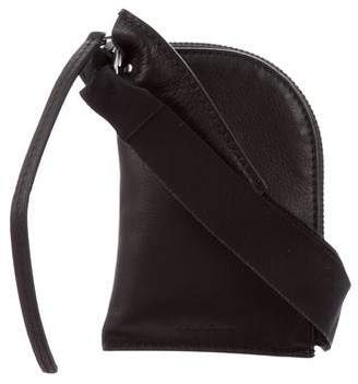 Rick Owens Leather Crossbody Pouch