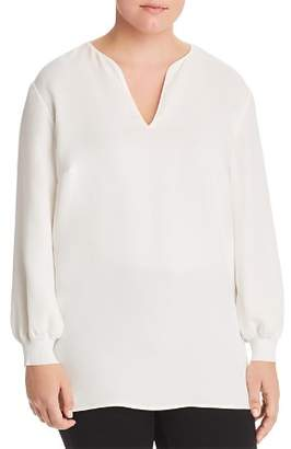 Lafayette 148 New York Plus Roxy Silk Blouse