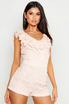 boohoo Lace Playsuit