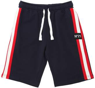 N°21 Cotton Sweat Short W/ Side Bands