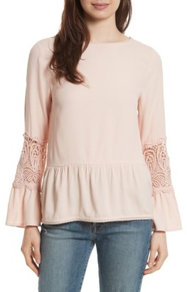 Women's Joie Emelda Bell Sleeve Blouse $228 thestylecure.com
