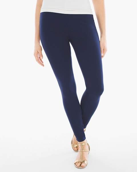 Chico's Knit Pull-On Leggings in Deep Navy