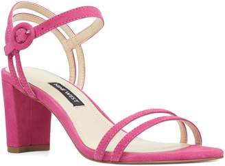b4d0d4a8e7c Nine West Pink Strap Women s Sandals - ShopStyle
