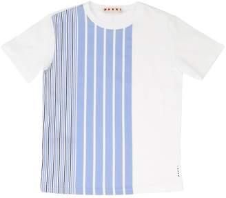 Marni Junior Striped Cotton Jersey T-Shirt