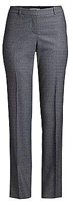 BOSS Women's Titana Heathered Super Stretch Virgin Wool Suiting Trousers - Size 0