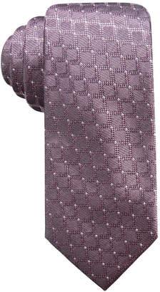Ryan Seacrest Distinction Men's Sovana Grid Slim Silk Tie, Created for Macy's