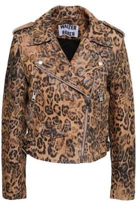 Walter W118 By Baker Leopard-print Coated Leather Biker Jacket