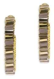 Saachi Mosaic Glass Hoop Earrings