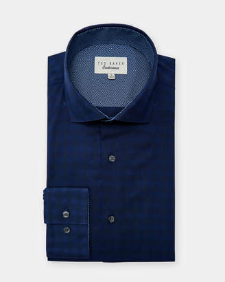 Ted Baker TRIMEE Shadow gingham cotton shirt