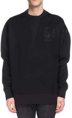 Alexander McQueen Men's Skull-Embroidered Sweatshirt