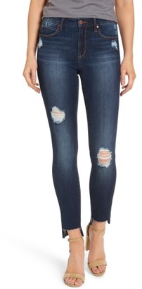 Women's Leith Ripped Step Hem Skinny Jeans $69 thestylecure.com