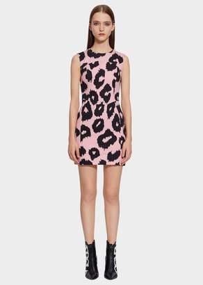 Versace Macro Animalier Print Mini Dress