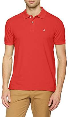 Benetton Men's H/s Polo Shirt (Red 30a), Large