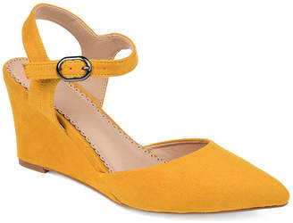 Journee Collection Womens Anndria Pumps Pointed Toe Wedge Heel
