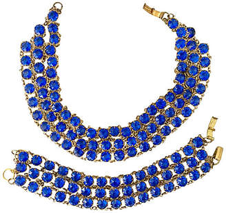 One Kings Lane Vintage Blue Glass Necklace & Bracelet - Jacki Mallick Designs