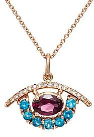 Ileana Makri Women's Mixed-Gemstone Eye Pendant Necklace