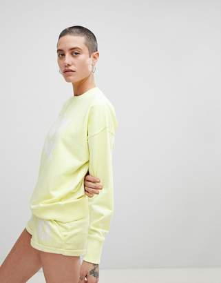 Ivy Park Logo Sweatshirt In Yellow