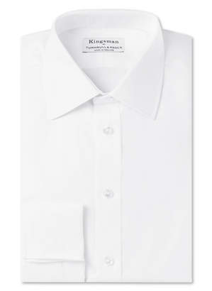 Turnbull & Asser Kingsman + White Double-Cuff Cotton-Twill Shirt