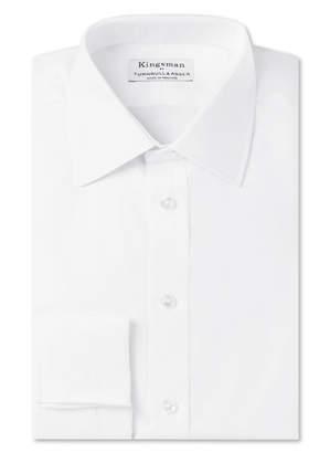 Turnbull & Asser Kingsman + White Double-Cuff Cotton-Twill Shirt
