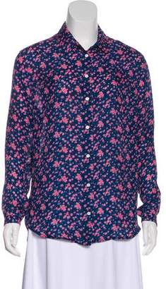 Band Of Outsiders Floral Print Button-Up Top