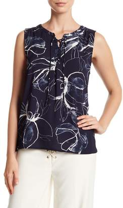 Vince Camuto Lace-Up Fresco Blouse