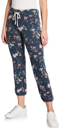 Sundry Floral Drawstring Sweatpants