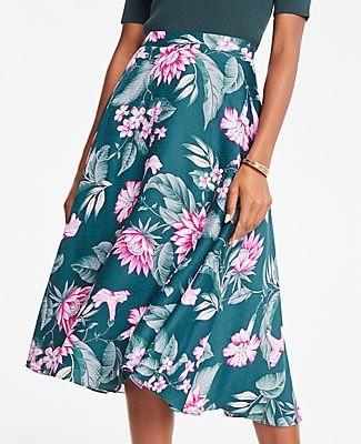 Ann Taylor Fauna Floral Midi Skirt