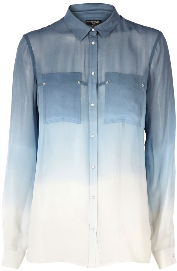Warehouse Ombre western blouse
