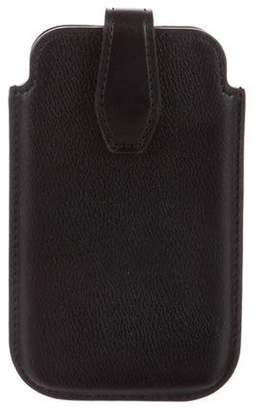 Smythson Leather Phone Case Black Leather Phone Case