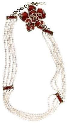 Valentino Embellished Faux Pearl Waist Belt