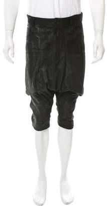 Alexandre Plokhov Distressed Suede Harem Shorts w/ Tags