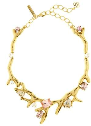 Oscar de la Renta Vintage Rose Crystal Necklace
