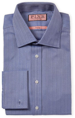 Thomas Pink Prestige Herringbone French Cuff Dress Shirt