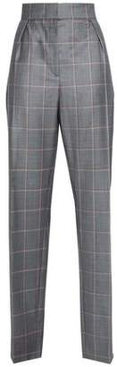 Lanvin Checked Wool Tapered Pants