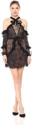 For Love & Lemons Women's Margot Off Shoulder Mini Dress