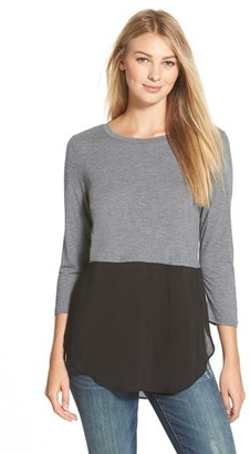 Women's Two By Vince Camuto Mixed Media Jewel Neck Tunic $59 thestylecure.com