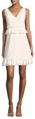 Three floor Cristal Ruffle-Trim Dress