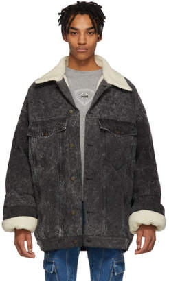 Y/Project Black Denim Puffer Jacket