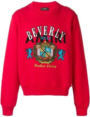 Amiri Beverly Hills embroidered sweatshirt